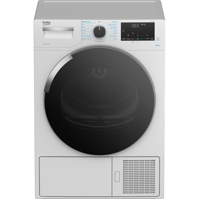 Beko DPHY9P46W Heat Pump Tumble Dryer - White - DPHY9P46W_WH - 1