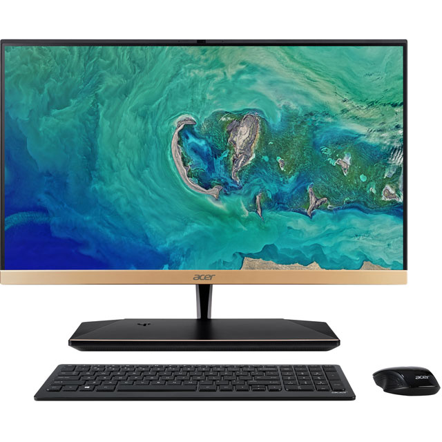 "Acer All In One 23.8"" Intel® Core™ i5 8GB RAM - Black / Gold"