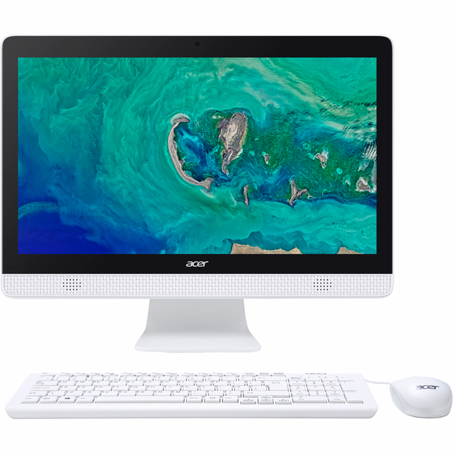 "Acer Aspire C20-820 19.5"" All In One - White - DQ.BC4EK.001 - 1"