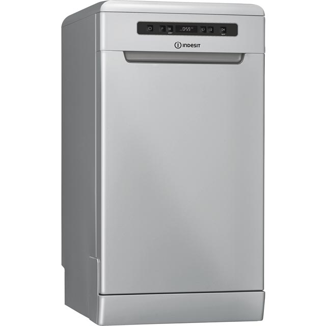 Indesit Slimline Dishwasher - Silver - A+ Rated