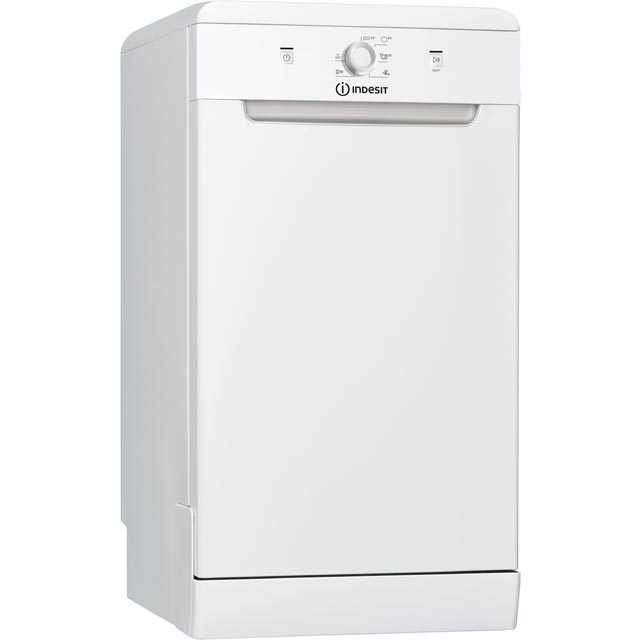 Indesit DSFE1B10UK Slimline Dishwasher - White - DSFE1B10UK_WH - 1