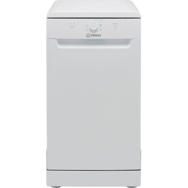 Indesit DSFE1B10UKN Slimline Dishwasher - White - F Rated