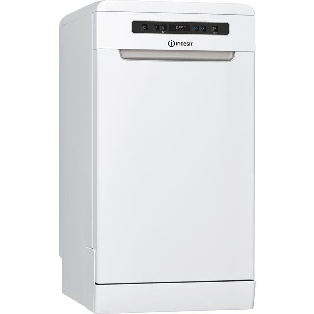 Indesit DSFO3T224ZUK Slimline Dishwasher - White - A++ Rated - DSFO3T224ZUK_WH - 1
