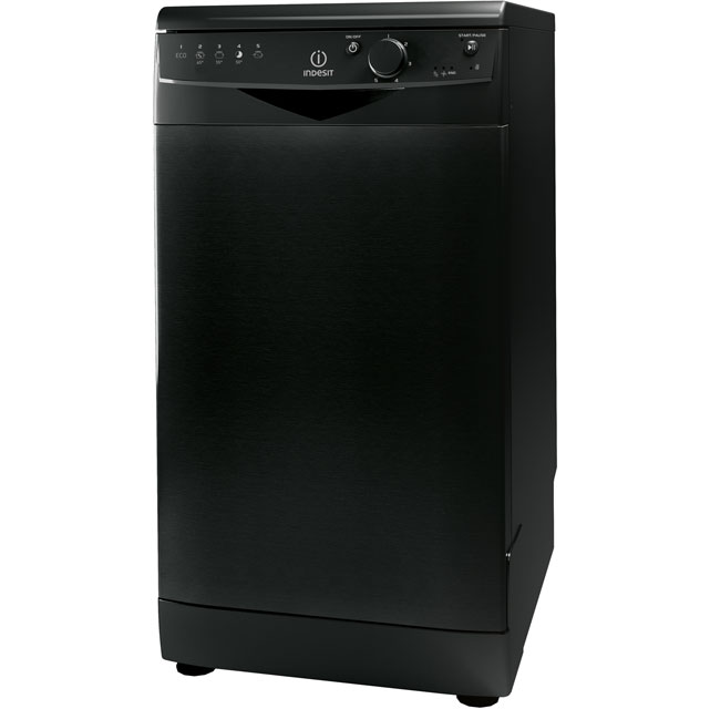 Indesit DSR15B1K Free Standing Slimline Dishwasher in Black
