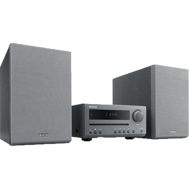 Image of Denon DT1GYE2GB 30 Watt Hi-Fi System with Bluetooth - Grey