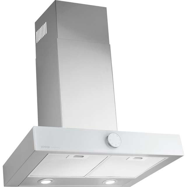 Gorenje Simplicity Collection DT6SY2W 60 cm Chimney Cooker Hood - White / Stainless Steel