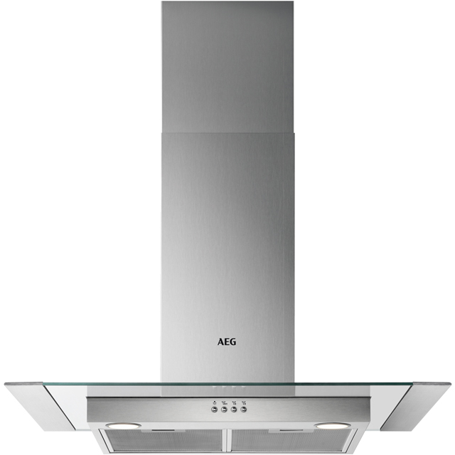 AEG DTB3652M 60 cm Chimney Cooker Hood - Stainless Steel / Glass - C Rated - DTB3652M_SSG - 1