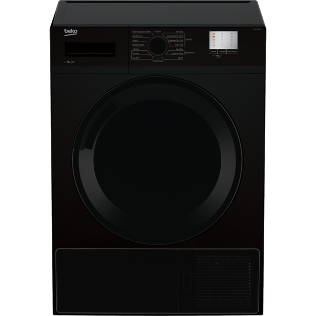 Beko DTGC7000B Free Standing Condenser Tumble Dryer in Black