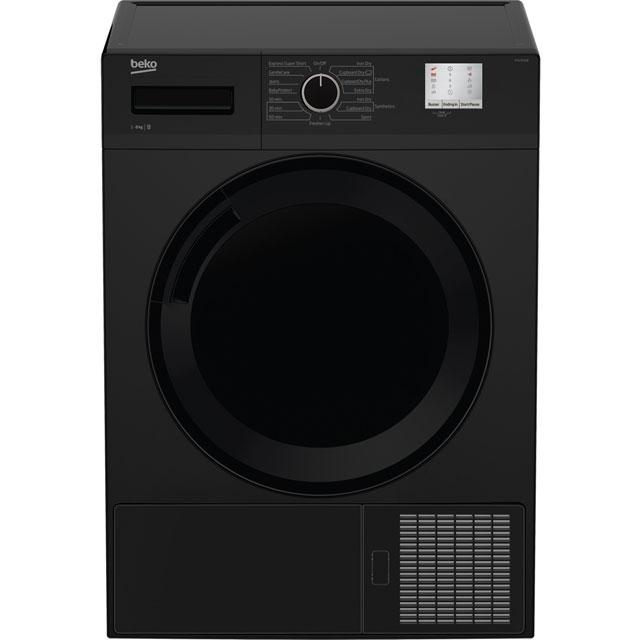 Beko DTGC8011B Free Standing Condenser Tumble Dryer in Black