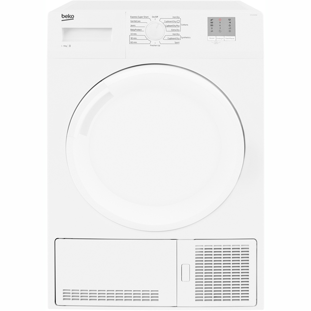 Beko DTGC9100W 9Kg Condenser Tumble Dryer - White - B Rated - DTGC9100W_WH - 1