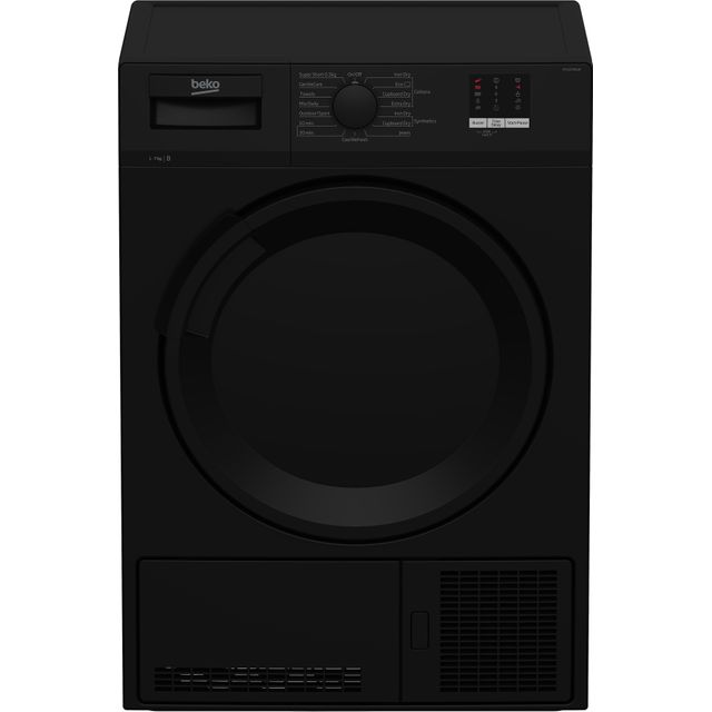 Beko DTLCE70051B 7Kg Condenser Tumble Dryer - Black - B Rated - DTLCE70051B_BK - 1