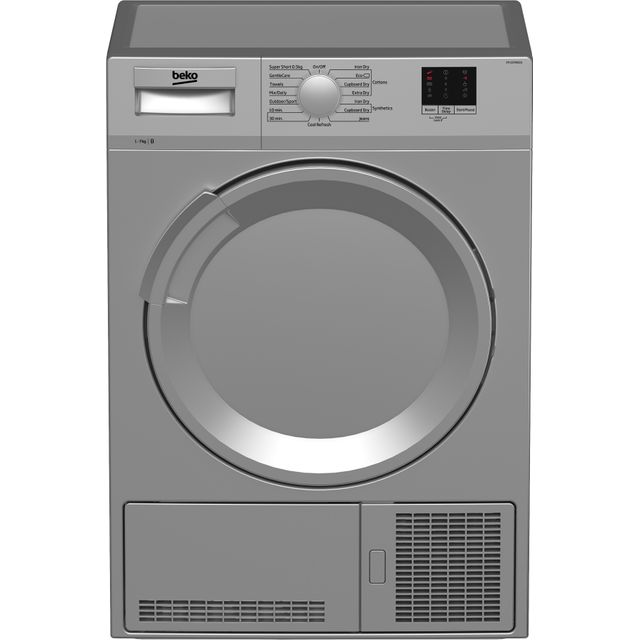 Beko DTLCE70051S 7Kg Condenser Tumble Dryer - Silver - B Rated - DTLCE70051S_SI - 1