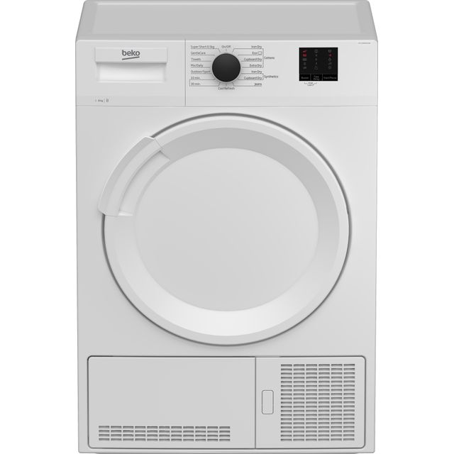 Beko DTLCE80021W 8Kg Condenser Tumble Dryer - White