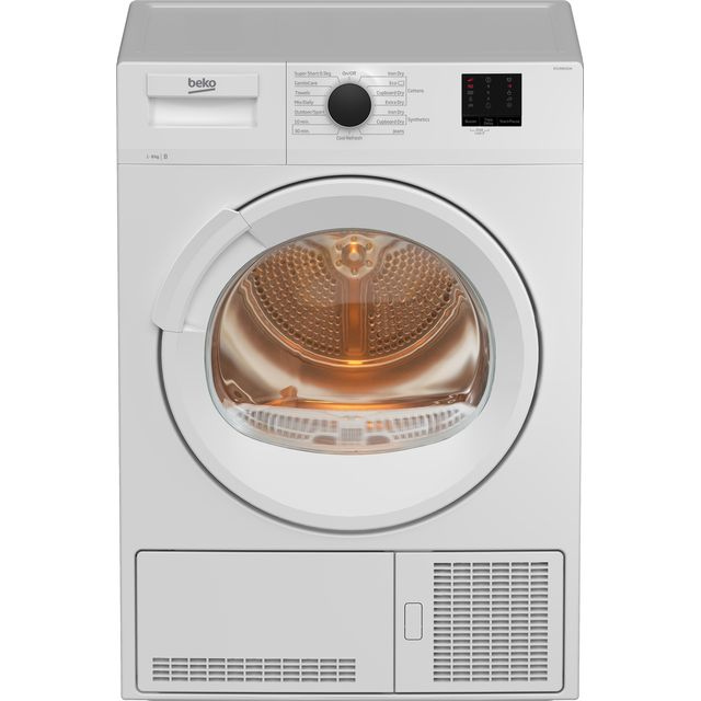 Beko DTLCE80121W 8Kg Condenser Tumble Dryer - White - B Rated - DTLCE80121W_WH - 1