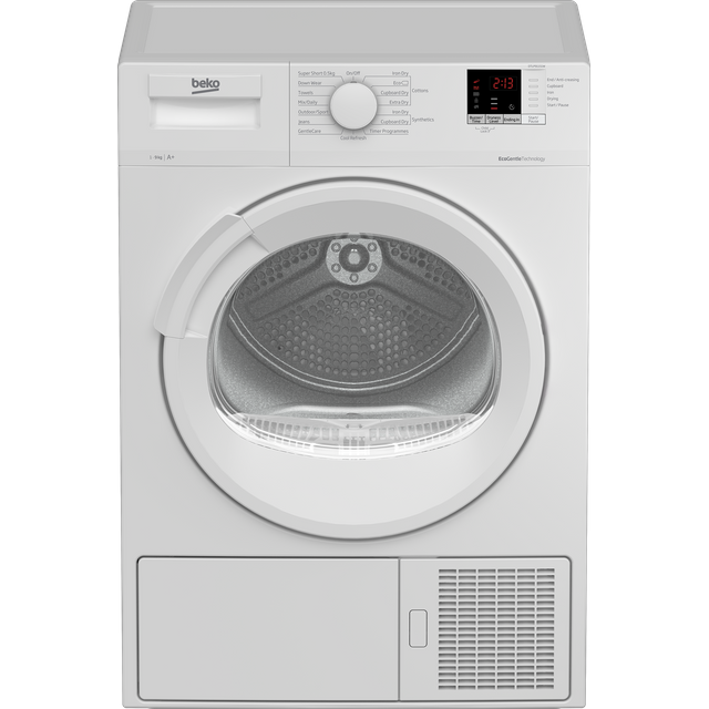 Beko DTLP91151W 9Kg Heat Pump Tumble Dryer - White - A+ Rated - DTLP91151W_WH - 1