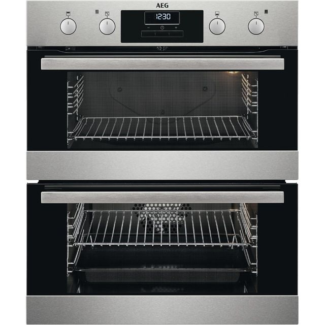 Image of AEG DUB331110M Built Under Electric Double Oven - Stainless Steel - A/A Rated