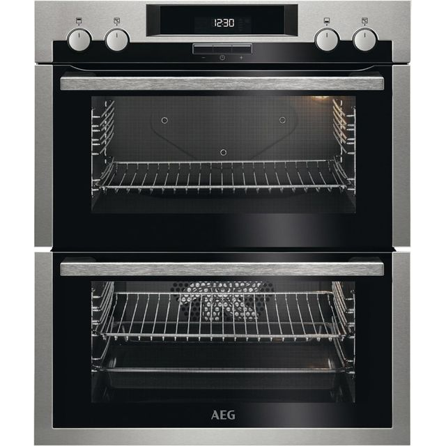 AEG DUE431110M Built Under Double Oven - Stainless Steel - A/A Rated - DUE431110M_SS - 1