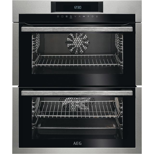 AEG DUE731110M Built Under Double Oven - Stainless Steel - A/A Rated - DUE731110M_SS - 1