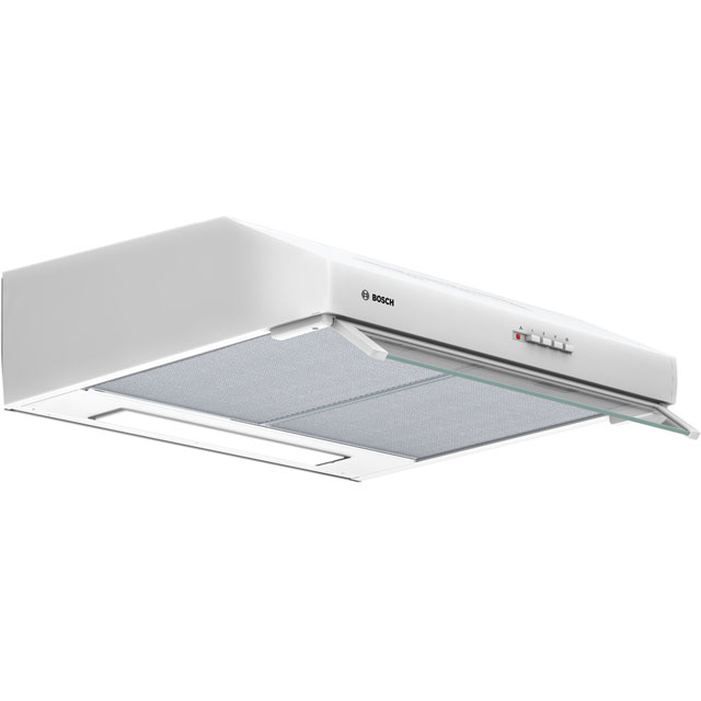 Bosch Serie 4 60 cm Canopy Cooker Hood - White - D Rated