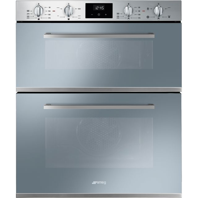 Smeg Cucina DUSF400S Built Under Double Oven - Stainless Steel - A/B Rated - DUSF400S_SS - 1