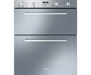 Smeg Cucina Built Under Double Oven - Stainless Steel - A/A Rated