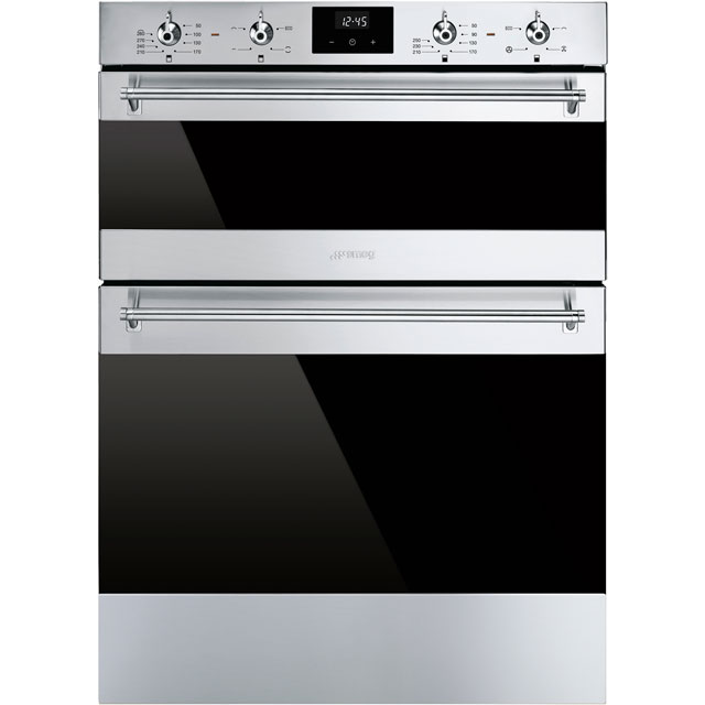 Smeg Classic DUSF6300X Built Under Double Oven - Stainless Steel - A/B Rated - DUSF6300X_SS - 1