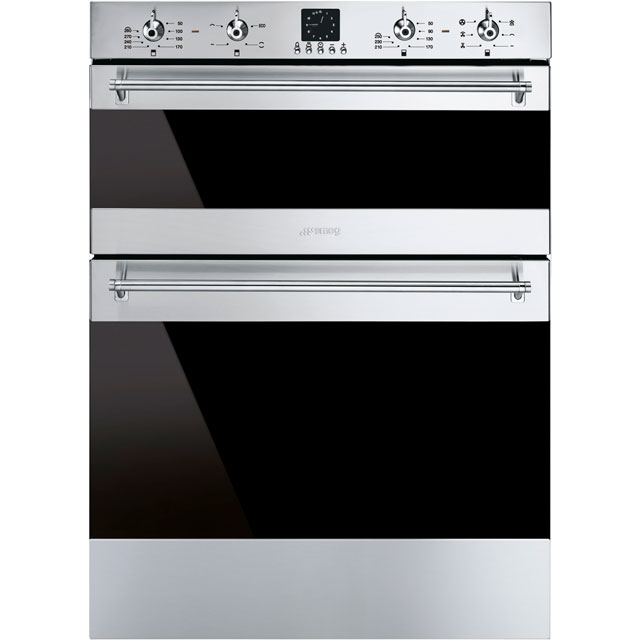 Smeg Classic Built Under Double Oven - Stainless Steel - A/A Rated