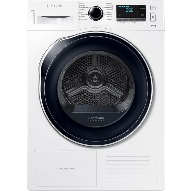 Samsung DV80K6010CW Heat Pump Tumble Dryer - White - DV80K6010CW_WH - 1