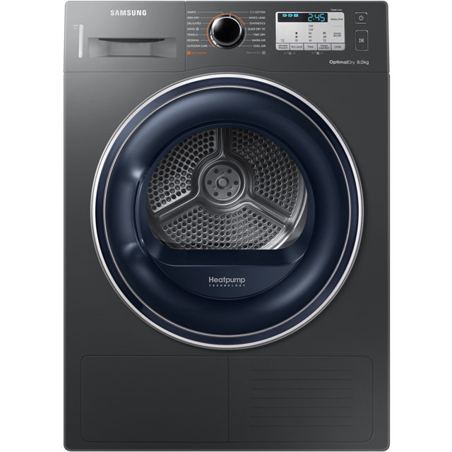 Samsung DV80M50133X 8Kg Heat Pump Tumble Dryer - Graphite - A++ Rated Best Price, Cheapest Prices