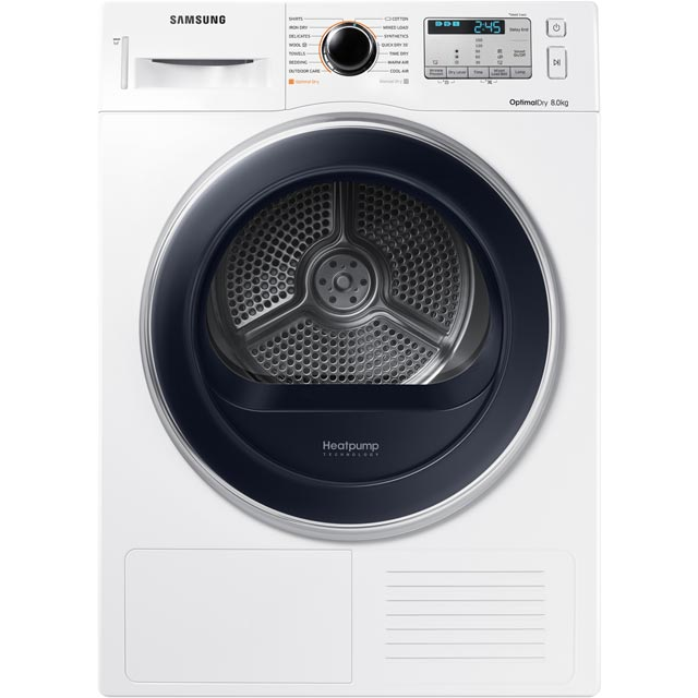 Samsung DV80M5013QW Free Standing Condenser Tumble Dryer in White