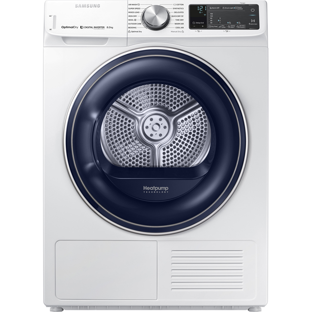 Samsung 8Kg Heat Pump Tumble Dryer - White - A+++ Rated