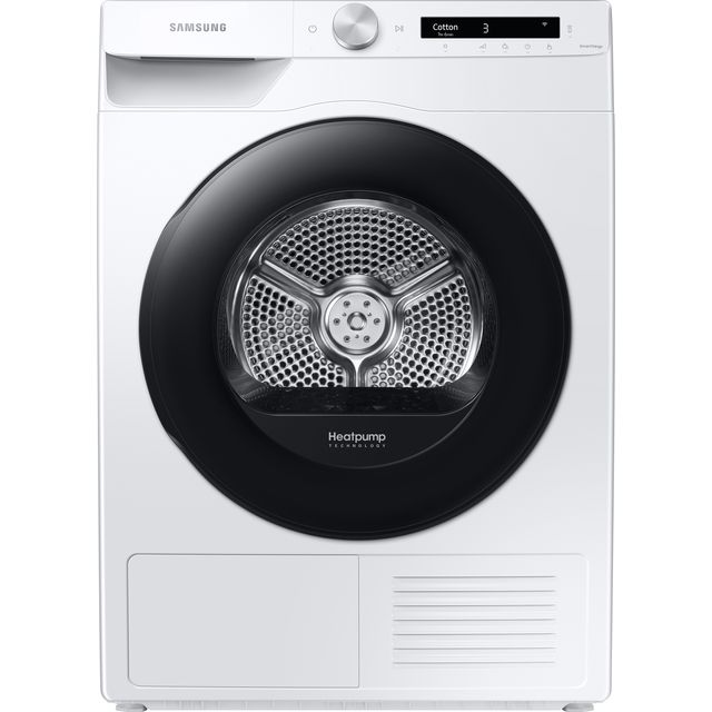 Samsung DV5000T DV80T5220AW Wifi Connected 8Kg Heat Pump Tumble Dryer - White - A+++ Rated