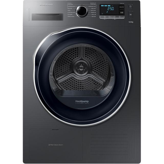 Samsung DV90K6000CX 9Kg Heat Pump Tumble Dryer - Graphite - A++ Rated Best Price, Cheapest Prices