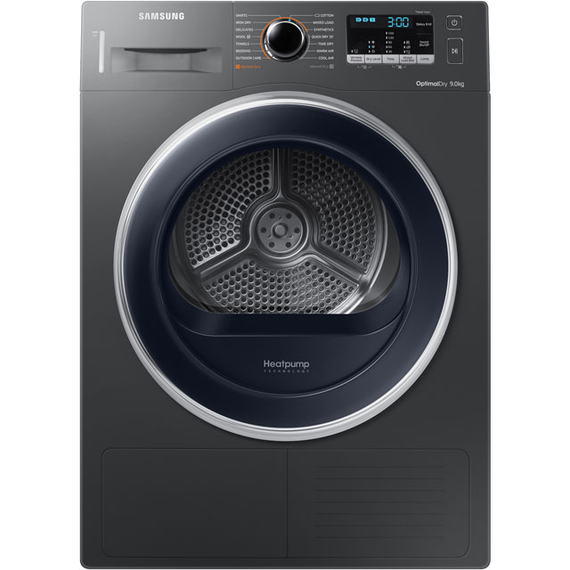 Samsung DV90M5003QX 9Kg Heat Pump Tumble Dryer - Graphite - A++ Rated Best Price, Cheapest Prices