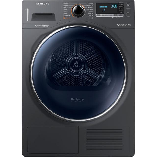 Samsung DV90M8204AX Free Standing Condenser Tumble Dryer in Graphite