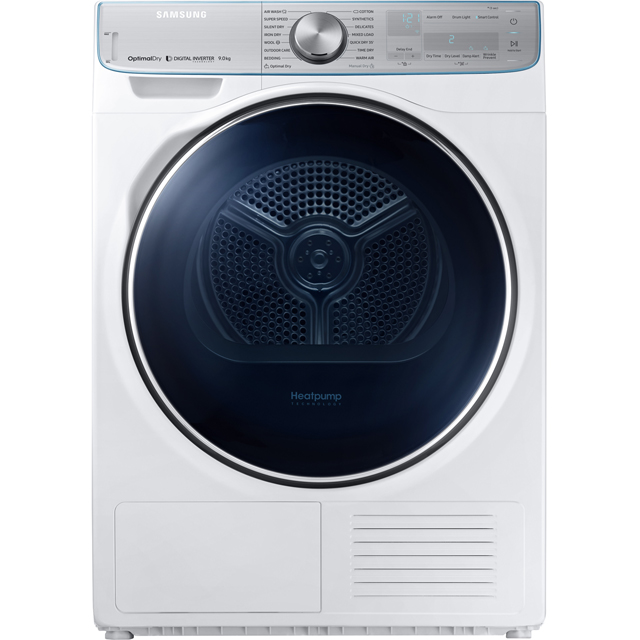 Samsung DV90N8289AW 9Kg Heat Pump Tumble Dryer - White - A+++ Rated - DV90N8289AW_WH - 1