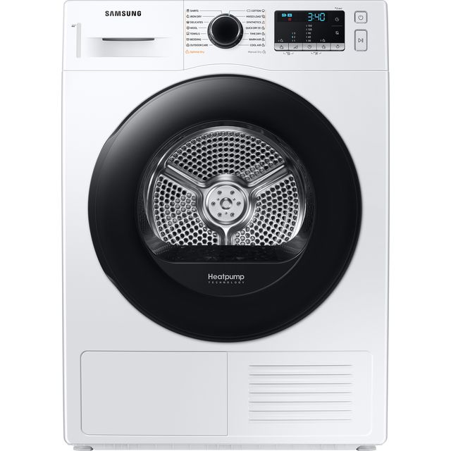 Samsung Series 5 OptimalDry™ DV90TA040AE 9Kg Heat Pump Tumble Dryer - White - A++ Rated