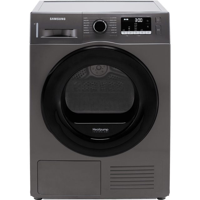 Samsung Series 5 OptimalDry� DV90TA040AX 9Kg Heat Pump Tumble Dryer - Graphite - A++ Rated