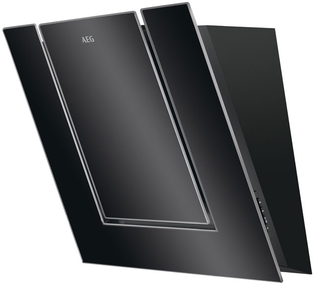 AEG DVB3550B 55 cm Chimney Cooker Hood - Black / Glass - C Rated