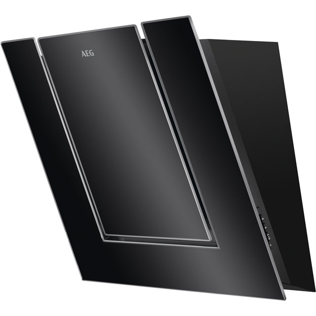 AEG 55 cm Chimney Cooker Hood - Black / Glass - B Rated