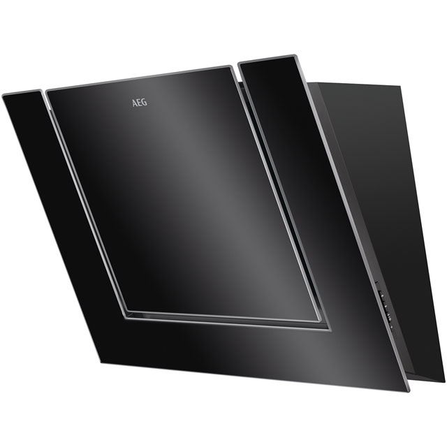 AEG DVB4850B 80 cm Chimney Cooker Hood - Black / Glass - B Rated - DVB4850B_BKG - 1