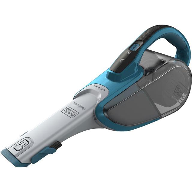 Black & Decker Cordless dustbuster® with Cyclonic Action DVJ320J-GB Handheld Vacuum Cleaner in Titanium / Blue
