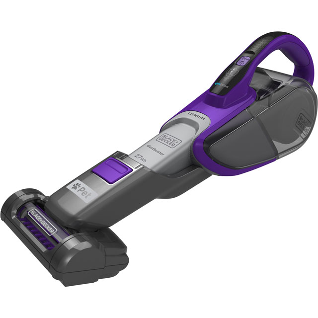 Black + Decker Pet Range DVJ325BFSP-GB Handheld Vacuum Cleaner - Purple - DVJ325BFSP-GB_PUR - 1