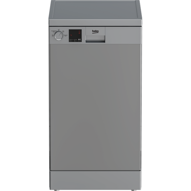 Beko DVS04020S Slimline Dishwasher - Silver - E Rated