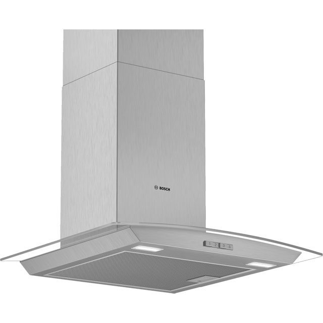 BOSCH Serie 2 DWA64BC50B Chimney Cooker Hood – Stainless Steel, Stainless Steel