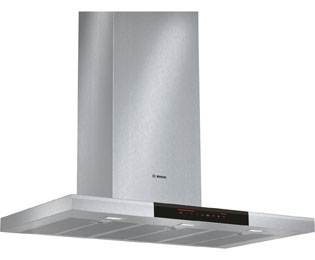 Bosch Serie 8 90 cm Chimney Cooker Hood - Brushed Steel - A+ Rated
