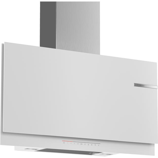 Bosch Serie 6 DWF97KR20B Wifi Connected 90 cm Chimney Cooker Hood - White - A Rated - DWF97KR20B_WH - 1