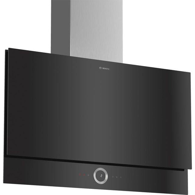 Bosch Serie 8 DWF97RV60B Wifi Connected 89 cm Chimney Cooker Hood - Black - B Rated - DWF97RV60B_BK - 1