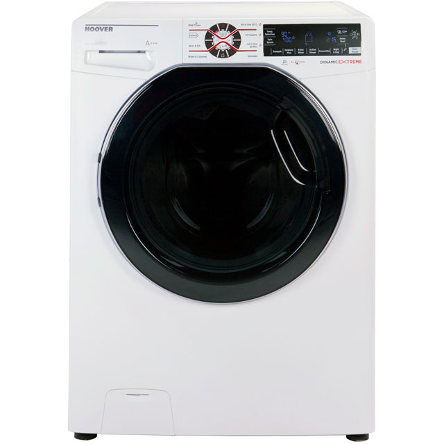 Hoover Dynamic Extreme DWFT412AH3 Wifi Connected 12Kg Washing Machine with 1400 rpm - White - A+++ Rated - DWFT412AH3_WH - 1