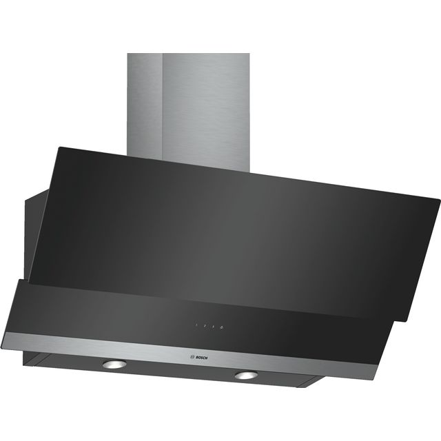 Bosch Serie 4 DWK095G60B 90 cm Chimney Cooker Hood - Black - C Rated - DWK095G60B_BK - 1